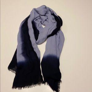 Blue ombré scarf
